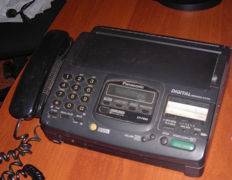 Факс panasonic kx f680 инструкция