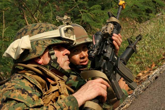 Морская пехота США на военных учениях Золотая кобра - 2010. 5 фото