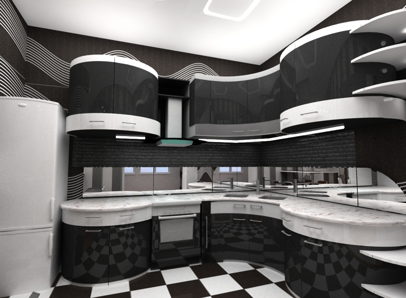 дизайн кухни 16 кв м.