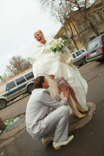 Подглядели у невесты видео