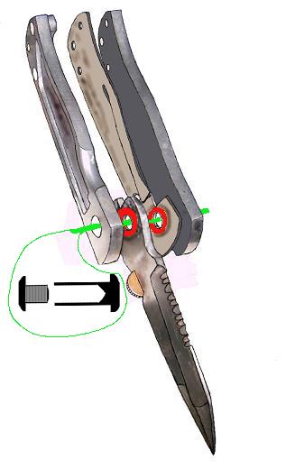 Изображения. контуры ножа.