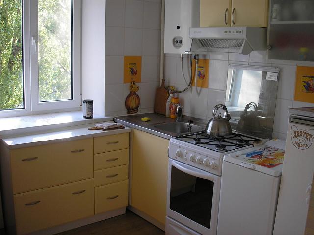 Кухня дизайн с котлом
