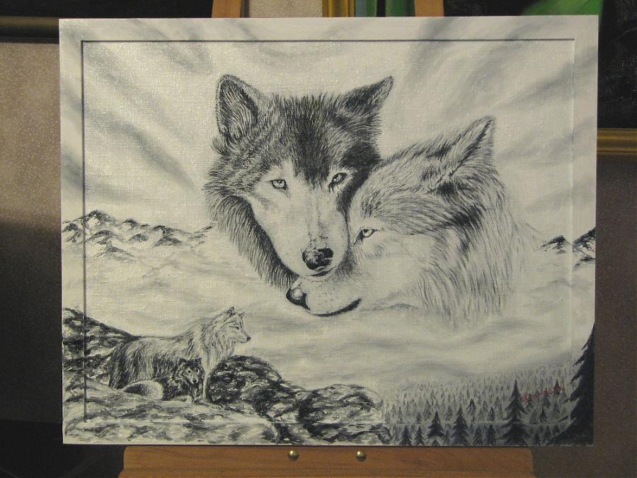 Волчица на аву 3