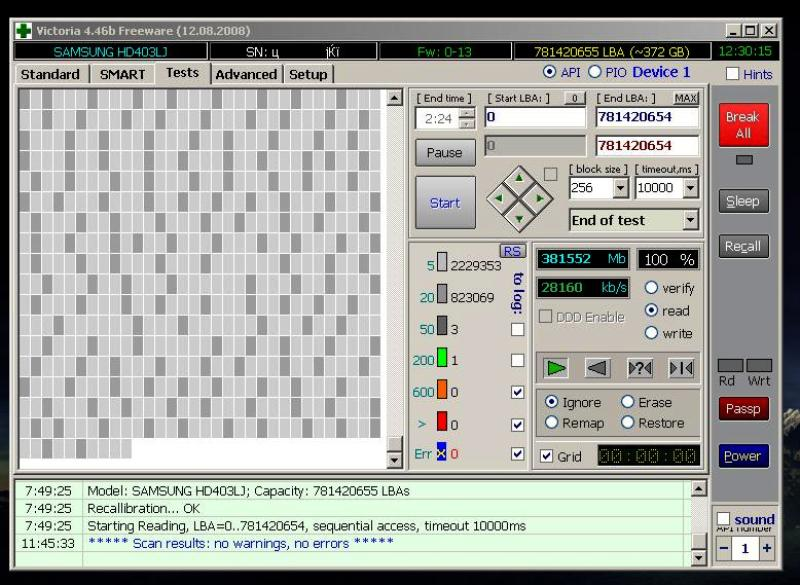 Программа проверки жесткого диска victoria 2