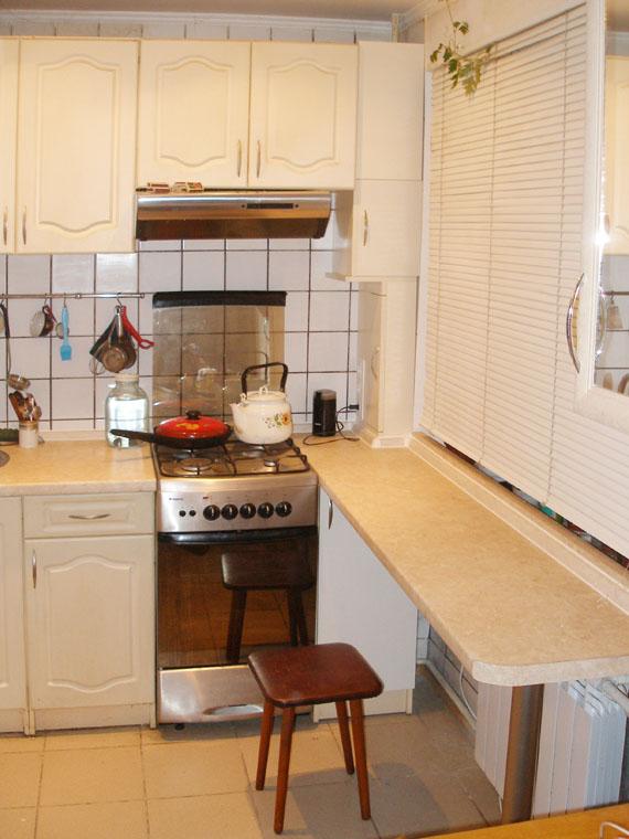 Дизайн угловой кухни 9 кв.м с барной стойкой